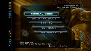 The main menu offered the same options for most titles.