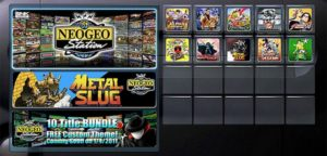NEOGEO Station as it appeared on PlayStation Network around the time of launch.