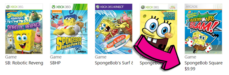 Spongebob Squarepants Underpants Slam! relisted