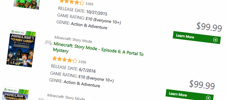 Minecraft: Story Mode reappears on Xbox 360 at $100 per episode