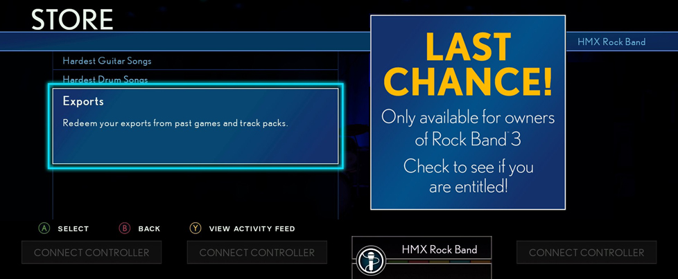 Rock Band 3 Song Export for RB4 is expiring on December 1st