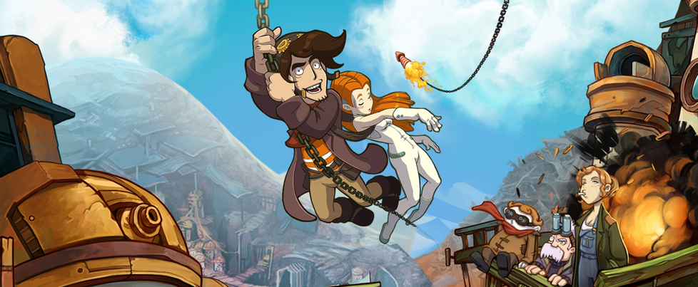 What remains of the Deponia series is on sale on PlayStation 4. Grab them by October 14th