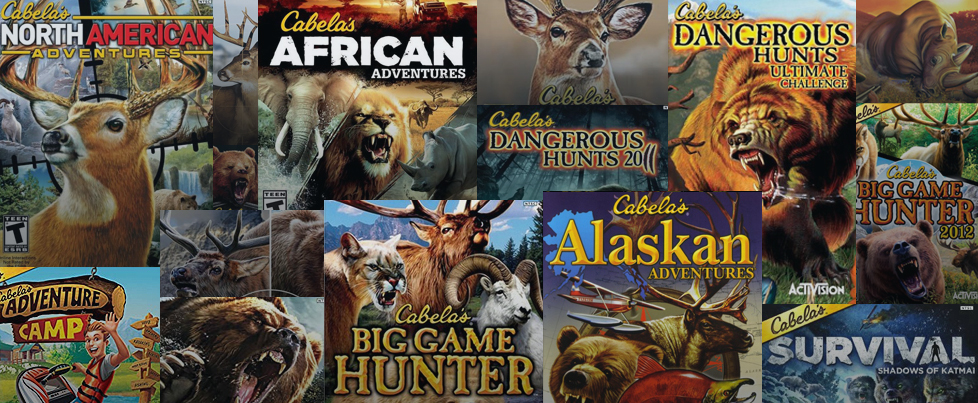 Seventeen delisted Cabela's titles from Activision are now on the site