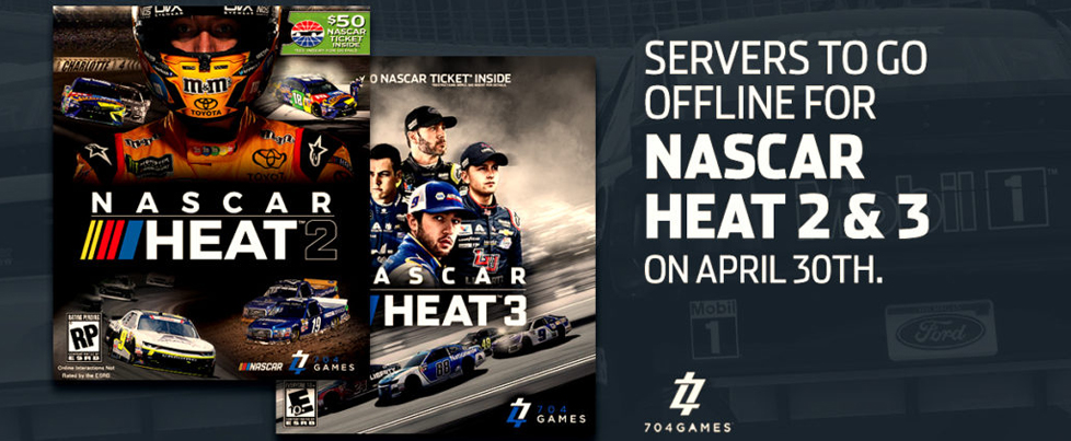 NASCAR Heat 2 and 3 lose online features by April 30th